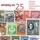 Námetové balíčky poštových známok 25ks