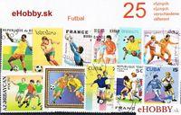 Balíček poštových známok 25ks - FUTBAL