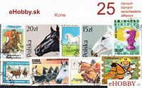 Balíček poštových známok 25ks - KONE