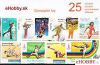 Balíček poštových známok 25ks - OLYMPIJSKÉ HRY