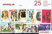 Balíček poštových známok 25ks - PSY