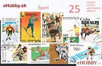 Balíček poštových známok 25ks - ŠPORT