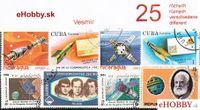 Balíček poštových známok 25ks - VESMÍR