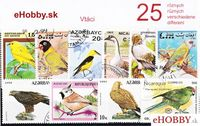 Balíček poštových známok 25ks - VTÁCI