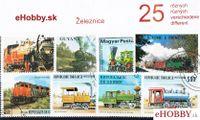 Balíček poštových známok 25ks - ŽELEZNICE