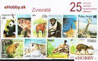 Balíček poštových známok 25ks - ZVIERATÁ