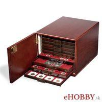 Drevený box Kabinett na zásuvky s mincami rady MB