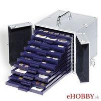 Hliníkový kufrík CARGO S 10 na zásuvky s mincami rady SMART