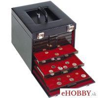 Koženkový kufrík CARGO MB DELUXE na zásuvky s mincami rady MB