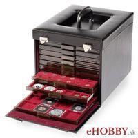 Kožený kufrík CARGO MB DELUXE na zásuvky s mincami rady MB