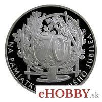 """Medaila Ag k životnému jubileu """"70 rokov"""""""