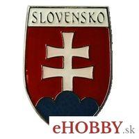 """Odznak """"Slovenský znak"""" s nápisom SLOVENSKO"""