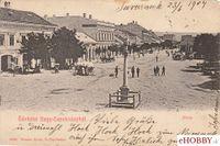 Pohľadnica Topoľčany 1904 - námestie