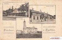 Pohľadnica Topoľčany 1925 - trojzáberová pohľadnica