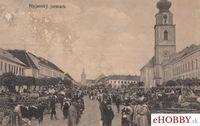 Pohľadnica Myjava 1919 - Myjavský Jarmok