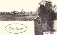 Pohľadnica Topoľčany 1924 - Pohlaď na mesto
