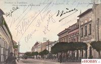 Pohľadnica Topoľčany 1928 - Hlavné námestie a Široká ulica