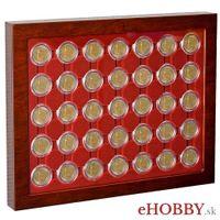 Vitrína LOUVRE na 2-Euro mince v kapsliach