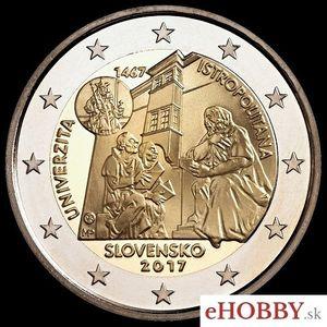 """2 EURO - Slovensko 2017 """"Univerzita Istropolitana - 550.výročie začatia činnosti"""""""