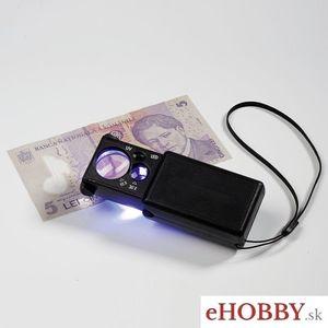 LED vyťahovacia lupa s UV lampou