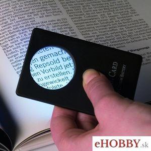 Lupa CC CREDITCARD 3x zväčšenie